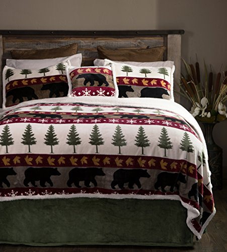 Carstens 4 Piece Tall Pine Bedding Set, Twin, Multicolor
