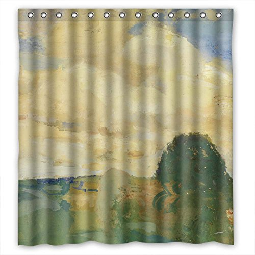 Piece Two Devonshire Toilets (SUNSMILES Polyester Bathroom Curtains Of Art Painting Constant Permeke - Landscape In Devonshire For Girls Relatives Kids Girl Girls. Eco Friendly Width X Height / 72 X 72 Inches / W H 1)
