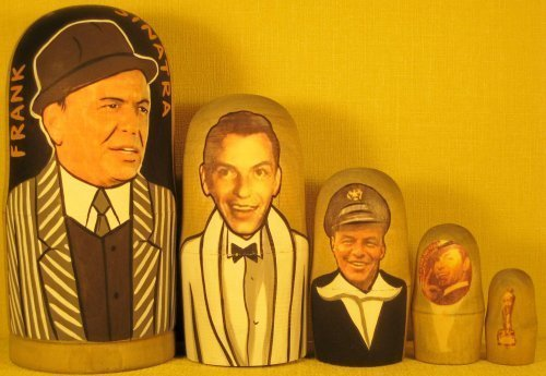 Frank Sinatra Russian Nesting Doll Hand Made 5 Pcs / 6 - 7 in * #m1v13 by Hand made