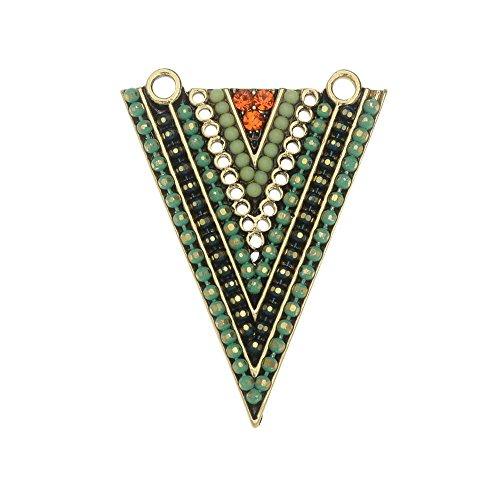 Zola Elements Pendant Link, Mountain Meadow Arrow 27x37mm, 1 Piece, Antiqued Gold Tone (Arrow Element)