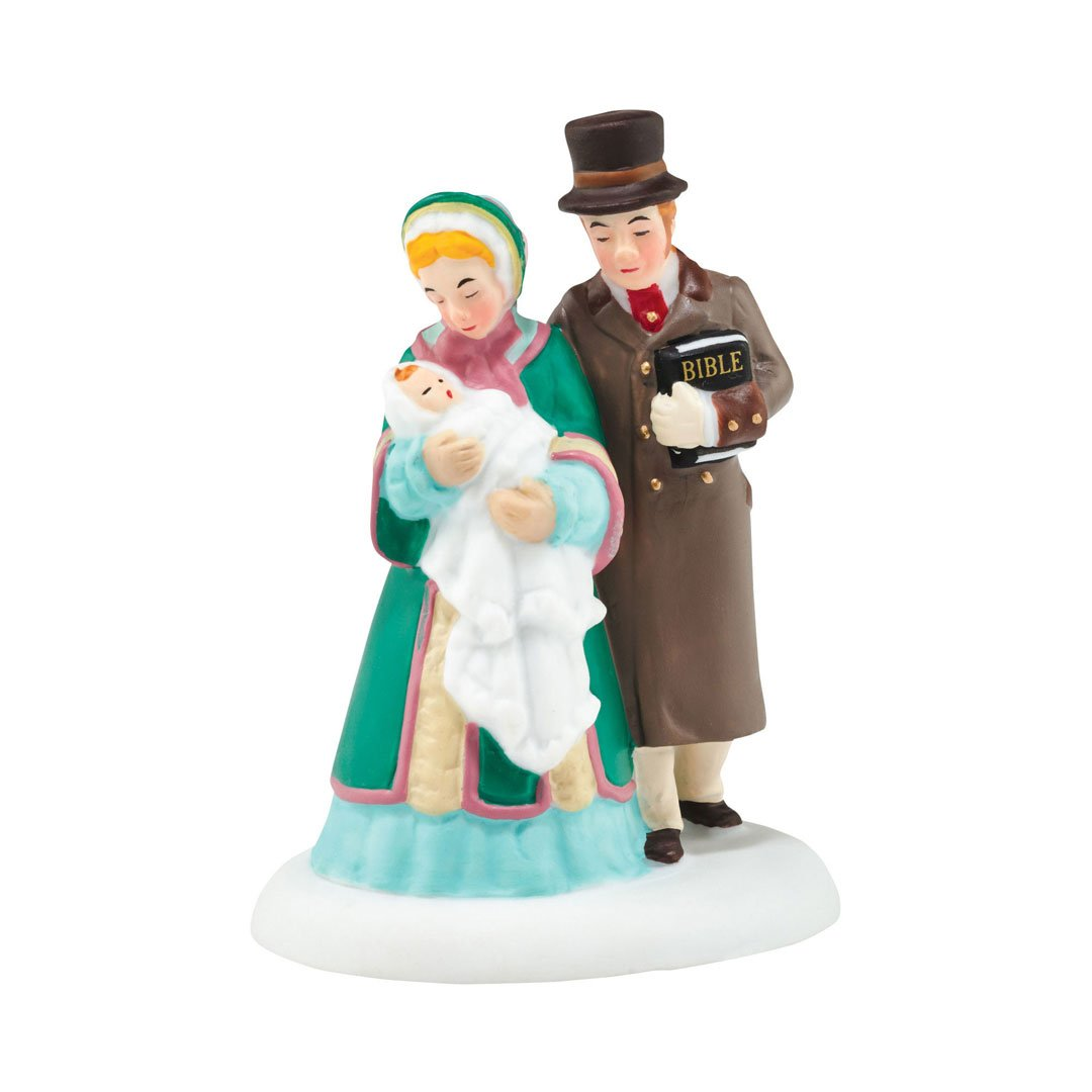 Department 56 Dicken's Village First Christmas Eve Service Accessory Figurine