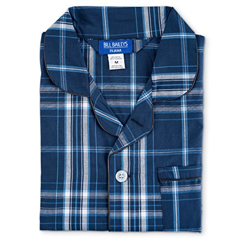 Bill Baileys Men's Long Woven Pajamas Set Button Front for sale  Delivered anywhere in USA