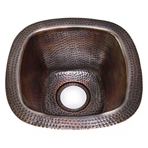 Houzer HW-TRES15A Hammerwerks Series Copper Undermount Bar Sink, ()