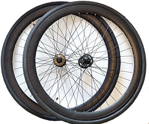 Óptico llantas Fixie par de ruedas 700C (bonito 71.12 cm 40 mm negro llantas con buje flip flop neumáticos de terciopelo y el piñón 16 dientes: Amazon.es: Deportes y ...