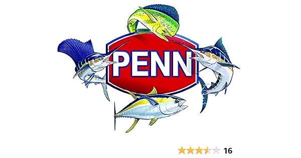 Penn Fishing Tackle Outdoor Sports Vinyl Decal Sticker Window Metallic Silver