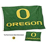 Cheap College Flags and Banners Co. Oregon Ducks Double Sided Nylon Embroidered Flag