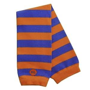BabyLegs Varsity Stripe - Mangas o calentadores infantiles (1 par), diseño de rayas, color azulón y naranja