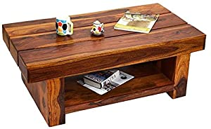 Daintree RONY Solid Wood Coffee Table (Natural Teak Finish)