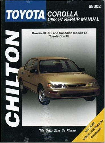 Toyota Corolla, 1988-97 (Chilton Total Car Care Series Manuals) (Series 1990 Learning)