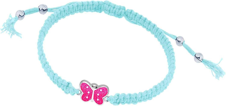 FIVE-D Armband Kinderarmband Schmetterling pink L/änge variabel 925 Sterling Silber im Geschenketui
