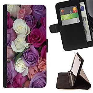 Jordan Colourful Shop -Rose Pink Flower Romantic Love Heart -- Leather Case Absorci¨®n cubierta de la caja de alto impacto FOR Samsung Galaxy Note 4 SM-N910 N910 IV ---