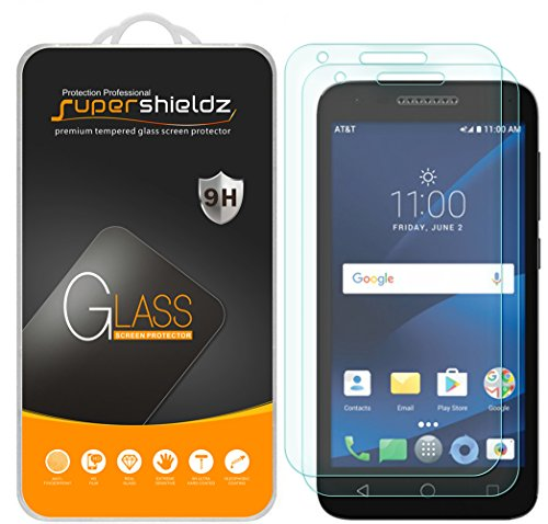 [2-Pack] Supershieldz for Alcatel IdealXCITE / Alcatel Raven LTE Tempered Glass Screen Protector, Anti-Scratch, Anti-Fingerprint, Bubble Free, Lifetime Replacement Warranty