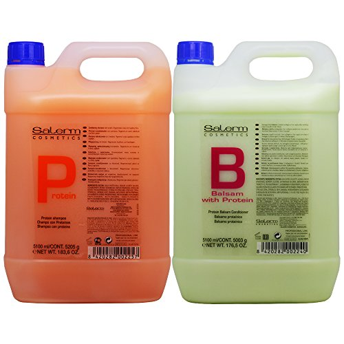 Salerm Protein Shampoo & Balsam Conditioner 5100ml Duo ''Set'' by Salerm