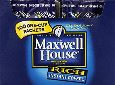 Maxwell House Instant Coffee, 100 packets by Tassimo