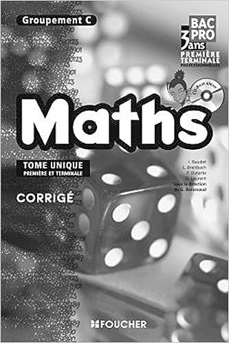 Read Mathématiques Groupement C 1re Tle Bac Pro Corrigé pdf, epub
