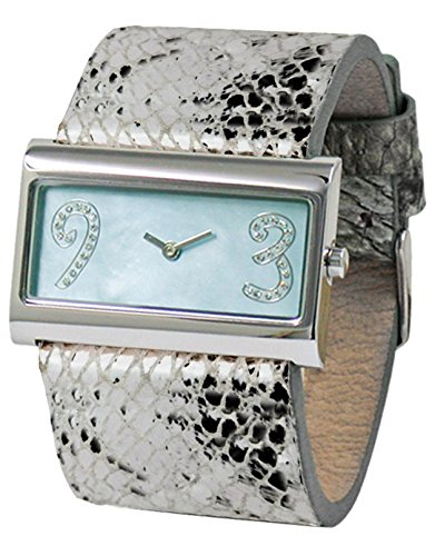 Moog Paris - Wild Origin - Women's Watch with white mother of pearl dial, silver strap in Genuine calf leather, made in France - M41636F-101