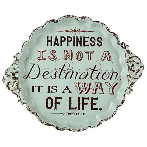 Happiness Is Not a Destination Way of Life Small Vintage Metal