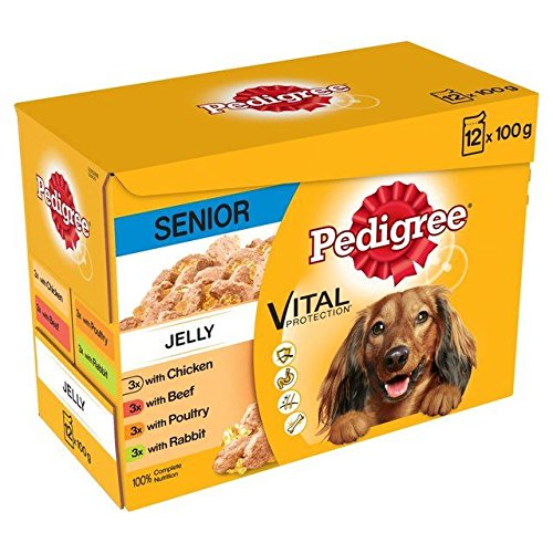 Pedigree 7+ Dog Pouch Meat in Jelly 12 x 100g