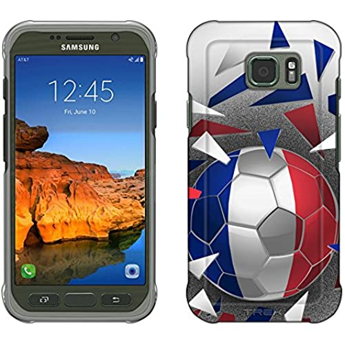 Samsung Galaxy S7 Active Case, Snap On Cover by Trek Soccer Ball France Flag Slim Case Sales