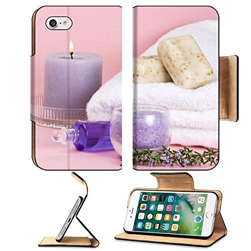 Luxlady Premium Apple iPhone 7 Flip Pu Leather Wallet Case IMAGE ID Spa set aroma candle salt oi ...
