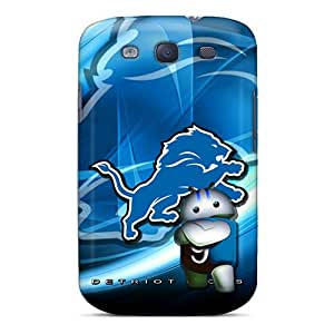 Scratch Protection Cell-phone Hard Cover For Samsung Galaxy S3 (cOx11305NiGZ) Custom HD Detroit Lions Skin