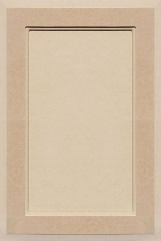 Unfinished MDF Square Flat Panel Cabinet Door by Kendor, 18H x 12W