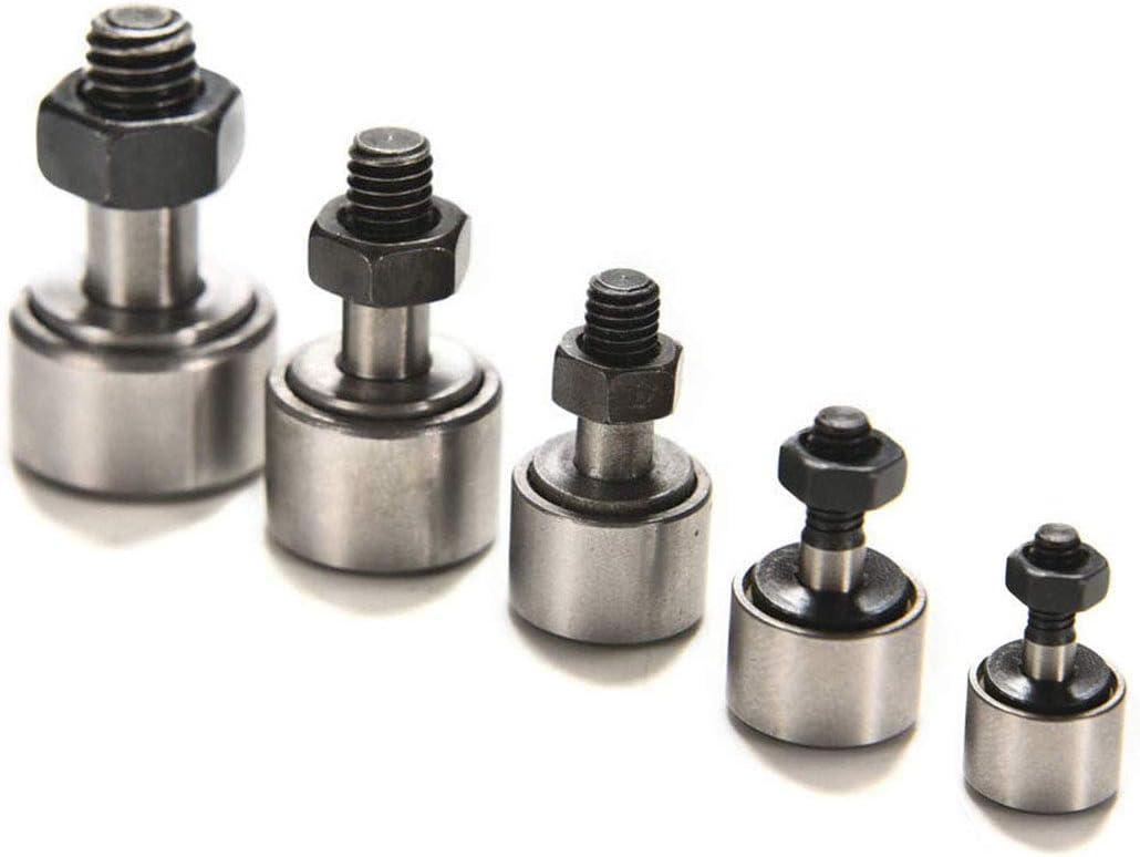 Lheng CF10//KR22 Steel Cam Follower Bolt-type Needle Roller Bearing 4Pcs