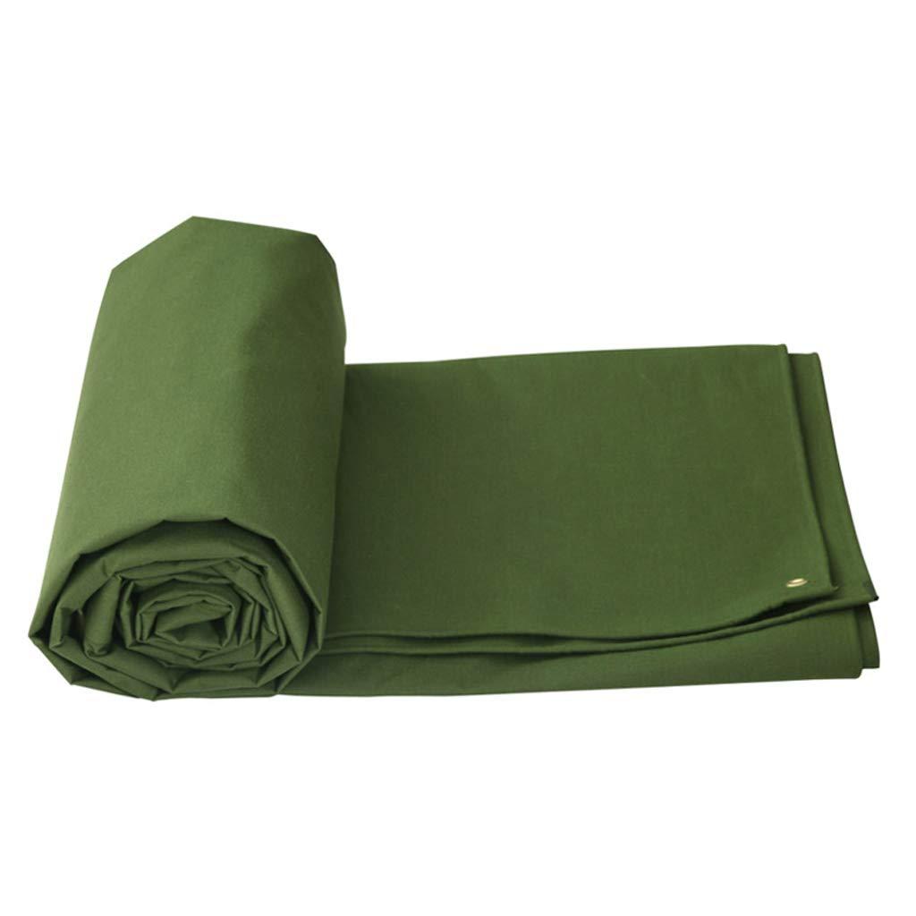 Qjifangfsh Plane, Silikon-Tuch + PVC, doppelseitiger Wasserdichter, regendichter Sonnenschutzschirm, Armee-Grün (größe   4m3m)
