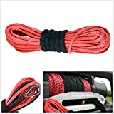 """50'X1/4"""" Synthetic Winch Rope Cable 6400 LBs ATV SUV Recovery Replacement"""