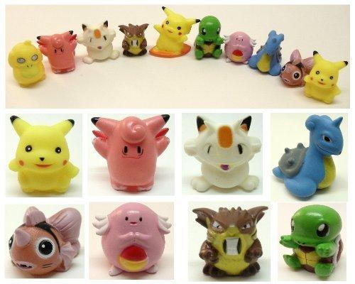 Character Bath (Pokemon Bath Toy Set of 10 Pokemon 2