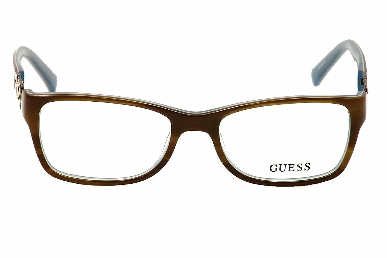 GUESS Eyeglasses GU 2406 Brown Blue 52MM at Amazon Men\'s Clothing store: