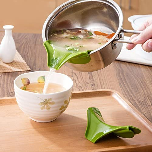 Silicone Pour Soup Funnel Kitchen Gadget Tools Water Deflector Cooking Tool `
