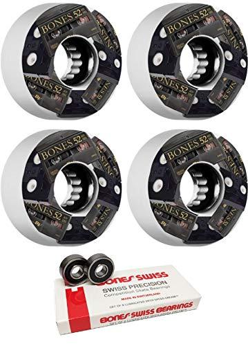 【初回限定お試し価格】 Bones Wheels - 52mmATF Mini DVのスケートボードホイール ボーンベアリング付き Wheels - B07JR7M2JB 8mmボーンスイススケートボードベアリング - 2個セット B07JR7M2JB, ジュエリーツツミ:0e079a95 --- mvd.ee