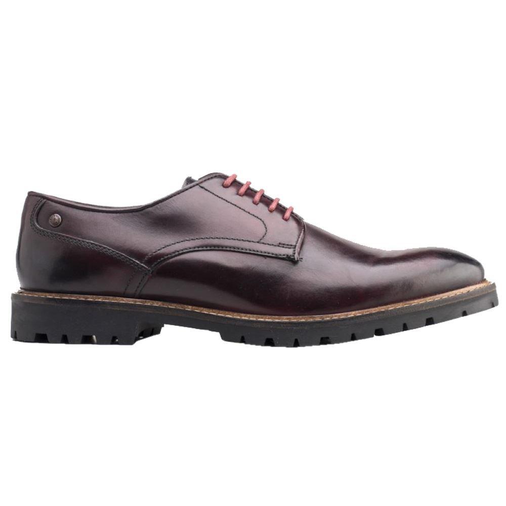 Base London Barrage, Zapatos de Cordones Derby para Hombre 11|Bordo