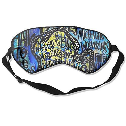 Lnrd Michigan University Adjustable Soft Silk Eye Cover Sleeping Mask