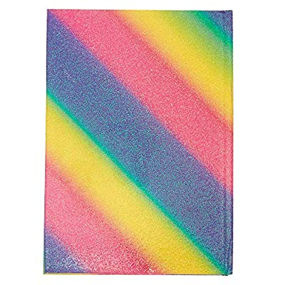Claire's Rainbow Unicorn Squish Notebook Diary for Girls, Textured Glitter Cover, Lined Paper, 5.5x8 Inches: Toys & Games