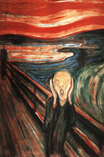Laminated Edvard Munch The Scream of Nature Art Print Sign Poster 12x18 inch