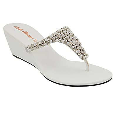 c9643ab8e9ff73 LADIES FLAT DIAMANTE TOE POST WOMENS SPARKLEY DRESSY PARTY SANDALS SIZE 3 4  5 6 7
