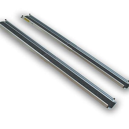 1,2 m hasta 2,1 M Par de aluminio Rampa telescópica rieles Rampa