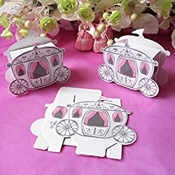 Xiaolanwelc@ 25pcs/lot Wedding Candy Box Favors Gift Box Cinderella Enchanted Carriage Favor Boxes for Wedding Decoration Party Supplies