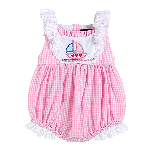 - Lil Cactus 32716020093 Romper Pink Gingham with Sailboat