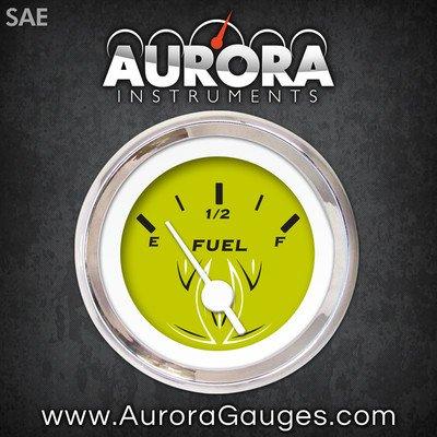 GAR124ZEXKABAD Aurora Instruments Pinstripe Green Fuel Level Gauge 1081