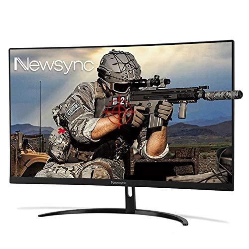 NEWSYNC 27 inch 144Hz 1ms 1080p Curved Gaming Mointor (1800R, AMD Free Sync, Cross-Hair Target, Flicker-Free, Low-Blue Light, Black Level, Slim Bezel) DisplayPort, HDMI, DVI (27FC 144 Curved)