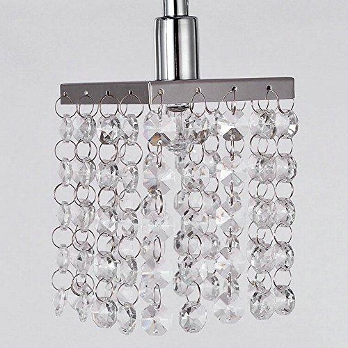 Dinggu Modern 3 Lights Chrome Finish Cylinder Crystal