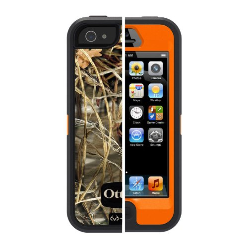 OtterBox Defender Series Case for iPhone 5/5s (Not Compatible with Touch ID) Realtree Camo - Max 4HD Orange