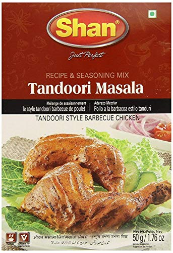 Shan Tandoori Masala for BBQ Chicken - 4 Pack (1.76 Oz/50g Each.)