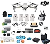 DJI Mavic Pro Platinum - Drone - Quadcopter - Fly More Combo - with 4 Batteries - 4K Professional Camera Gimbal - Bundle - Kit - with Must Have Accessories - with HardCase