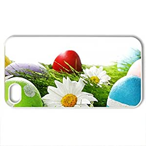 Easter Time - Case Cover for iPhone 4 and 4s (Flowers Series, Watercolor style, White)