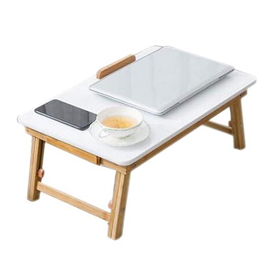 Cama Blanca Ordenador de Mesa Bambú Plegable Elevación Móvil ...