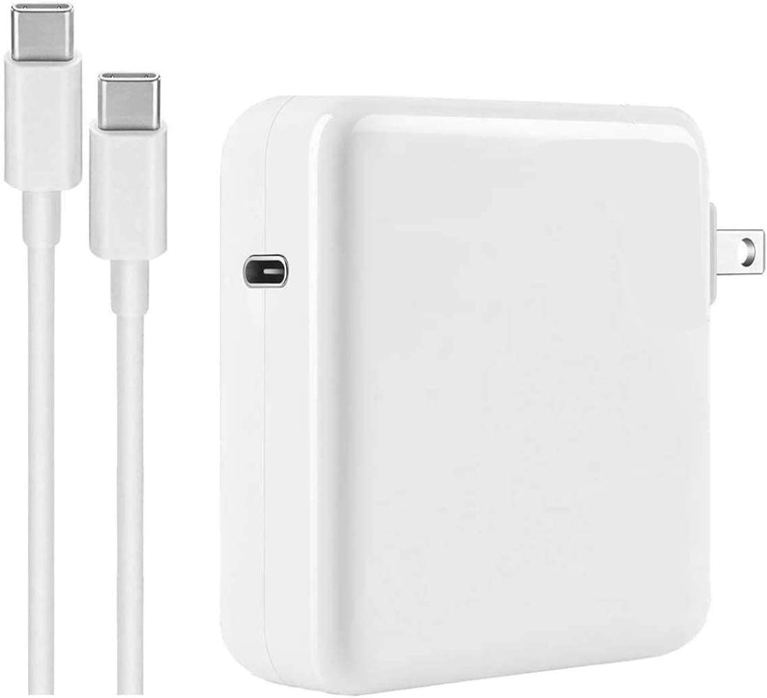 Mac Book Pro Charger, 87W USB C Power Adapter Compatible with MacBook Pro 15 Inch 13 Inch 2018 2019 2020 with USB C to USB C Cable